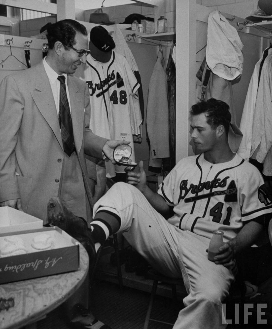 Eddie Mathews Milwaukee Braves 1953