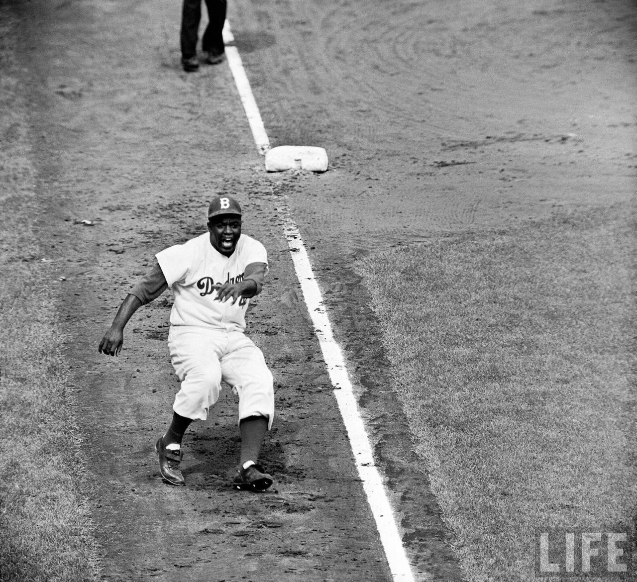 Jackie Robinson Brooklyn Dodgers 1955