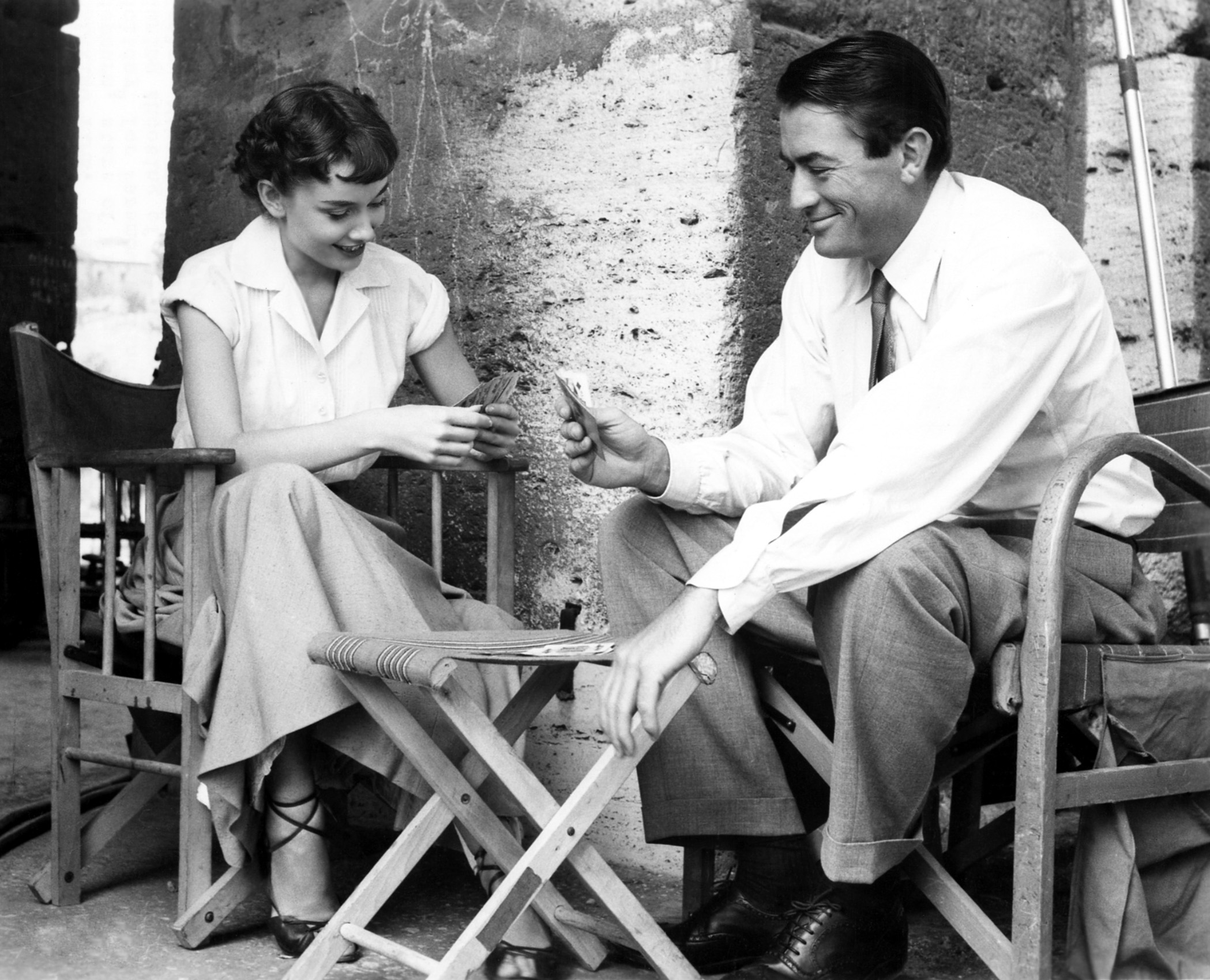 Audrey Hepburn and Gregory Peck Playing Cards 1953