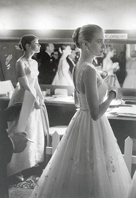 Grace Kelly and Audrey Hepburn 1956