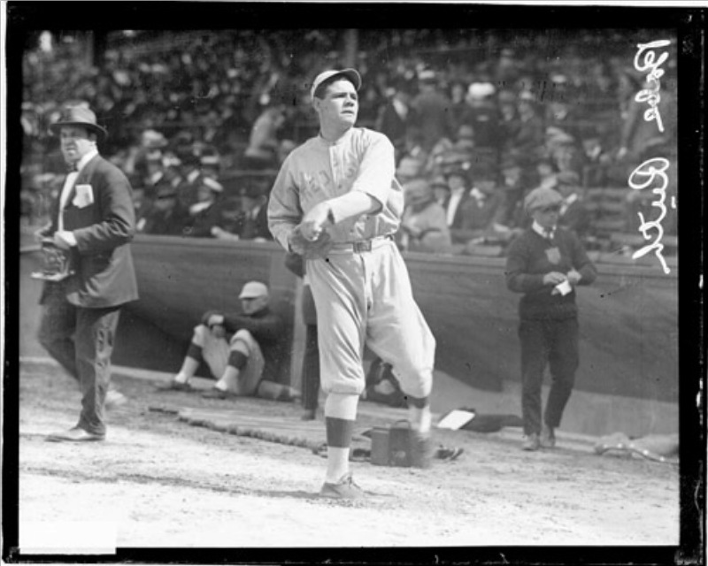 Babe Ruth Boston Red Sox 1918